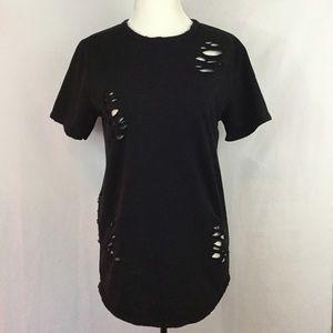 🍁4/$25 Urban-ID Black Distressed Top